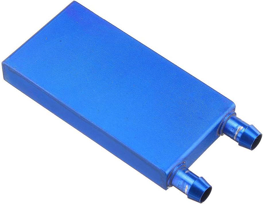 ILS - 4080 0.5mm Blue Aluminum Alloy Water Cooling Block Radiator Liquid Cooler Heat Sink Equipment