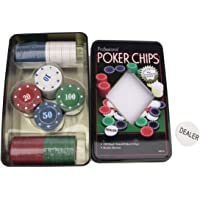 How (House of Wishes) Poker-Set 100 Chips (TIN CASE Safe Pack)
