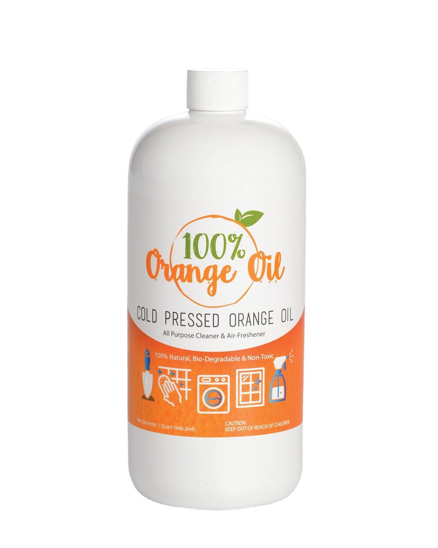 Premium Cold Pressed Orange Oil- 32 oz (D-Limonene), All Natural 100% Cold Pressed Orange Oil