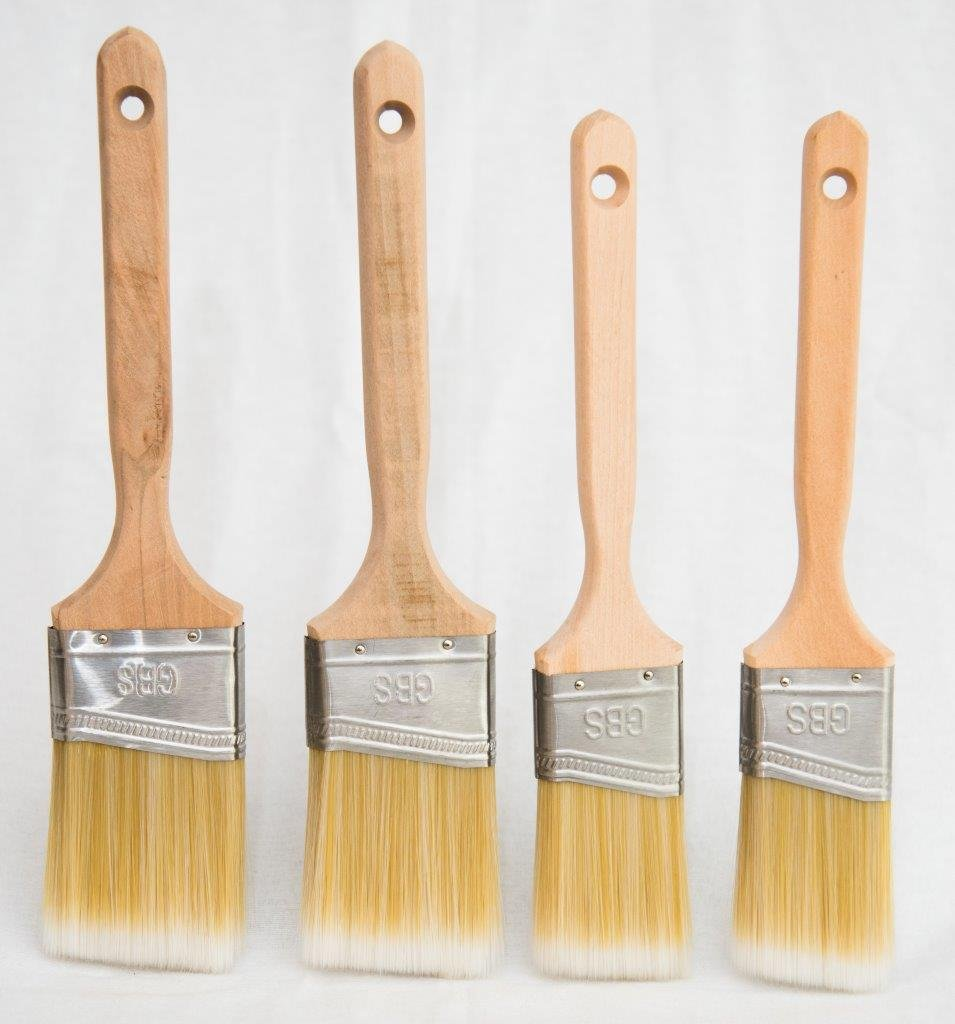Get 4 Professional brushes for the price of 2! GBS Paint Brush Set of Four Brushes, two 2'' & two 2.5'' polyester brush pack (JGBPY4630) Angle/Trim for professionals or home use.