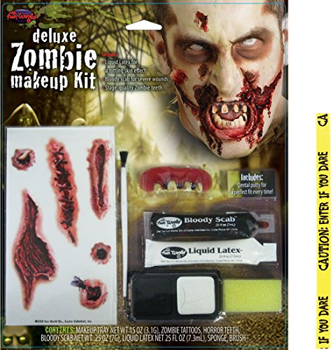 Bundle: 2 Items - Deluxe Zombie Makeup Kit and FREE Caution Tape Chosen at Random]()