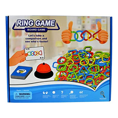 NUOBESTY Linking Hook Toy Plastic Educational DIY Inserting Circle Toy Inserted Ring Toy Ring Connection Toy Circle Link Toy: Toys & Games