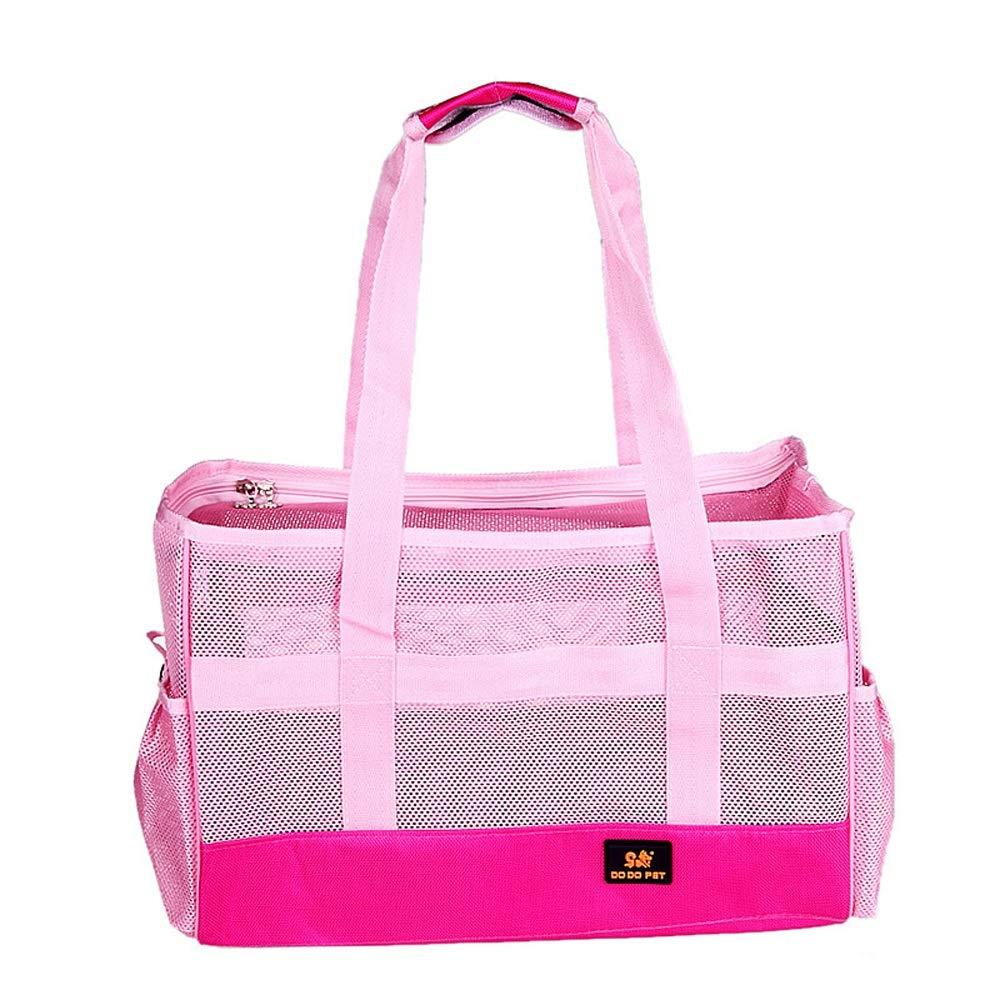 M-Pink Pet Outing Bag Cat Backpack Dog Bag Portable Backpack Breathable (color   M-Pink)