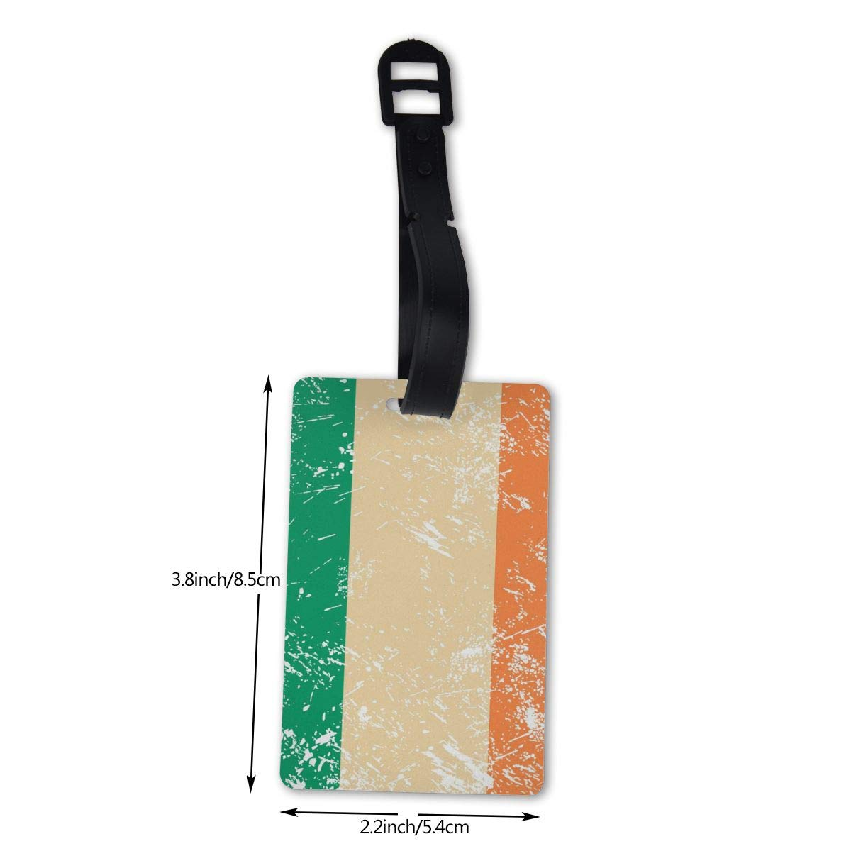 NB UUD Ireland Retro Flag Travel Luggage Tag Cool Employees Card Luggage Tag Holders Travel ID Identification Labels for Baggage Suitcases Bags