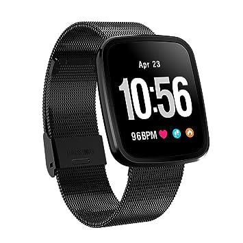 OOLIFENG Montre Cardio Bracelet Connectée Traqueur Dactivité, Podomètres, IP67 Étanche Montres pour