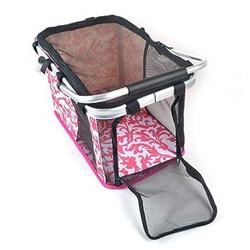 LINANNAV Bolsa para Mascotas Bolsa para Gatos Suministros para Perros Estuche portátil Estuche de Viaje para Mascotas Paquete de Viaje (Color : Deep Pink, ...