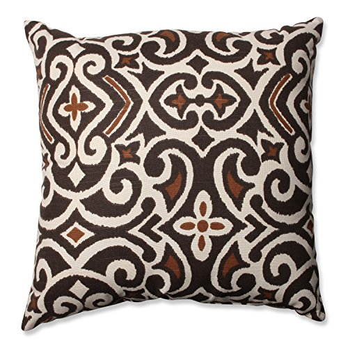 Pillow Perfect Brown Damask 18 Inch