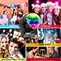 KOOT Disco Ball DJ Light Speaker Party Lights Club Light Strobe Light Crystal Magic Ball Lights with USB Charging Wireless Phone Connection Remote for Wedding KTV Karaoke Home Party Club