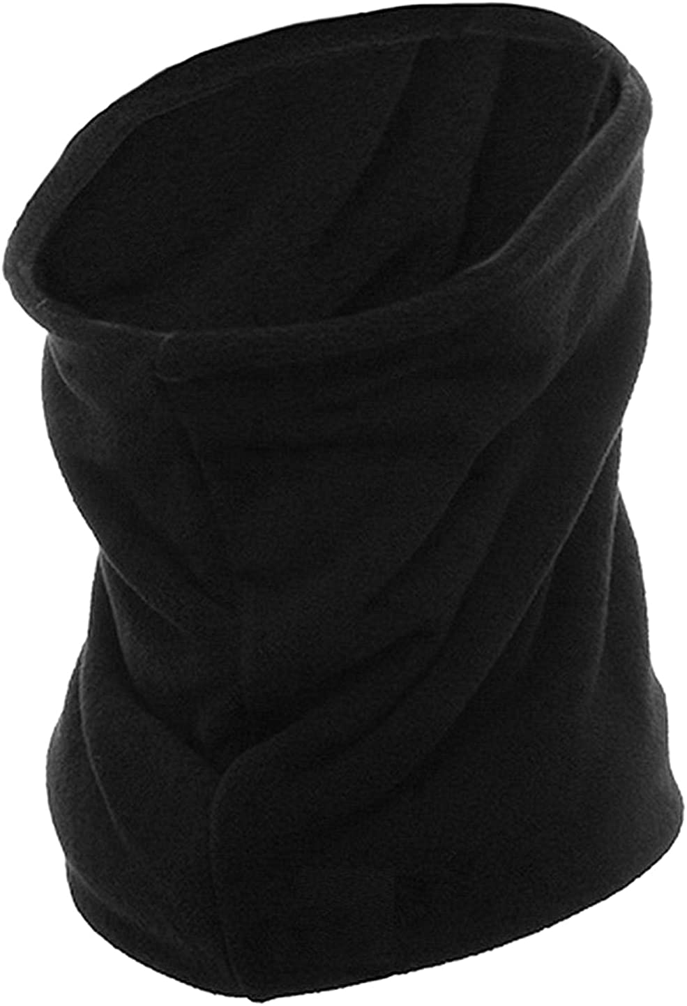 Army Universe Black Thick Micro Fleece Long Warm Winter Heavyweight Double Layer Neck Warmer Gaiter 2-Pack