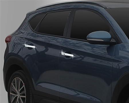 Autoclover - Juego de Cubiertas para manijas de Puerta cromadas para Hyundai Tucson 2015 + (10 Unidades): Amazon.es: Coche y moto