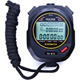 PULIVIA Sports Stopwatch Timer Lap Split Memory Digital Stopwatch, Countdown Timer Pace Mode 12/24 Hour Clock Calendar…