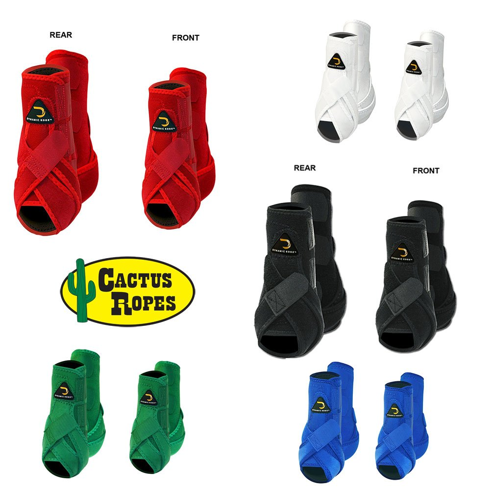 CACTUS ROPE DYNAMIC EDGE HORSE FRONT HIND REAR LEG SPORT BOOTS 4 PACK