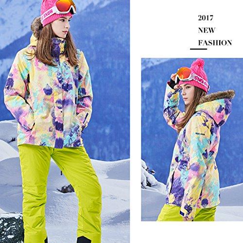APTRO Women's High Windproof Technology Colorfull Printed Ski Jacket Style #21 Size M by APTRO (Image #3)