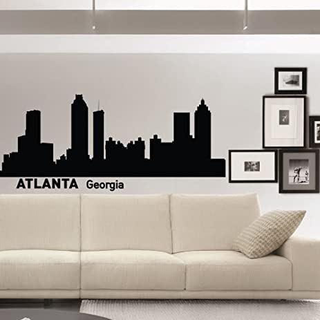 Atlanta Wall Decals Vinyl Stickers City Wall Decal Skyline - Wall decals city