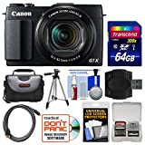 Canon PowerShot G1 X Mark II Wi-Fi Digital Camera with 64GB Card + Case + Tripod + Accessory Kit