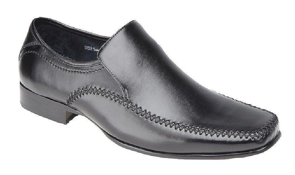 Goor - Mocasines para hombre, color negro, talla 44