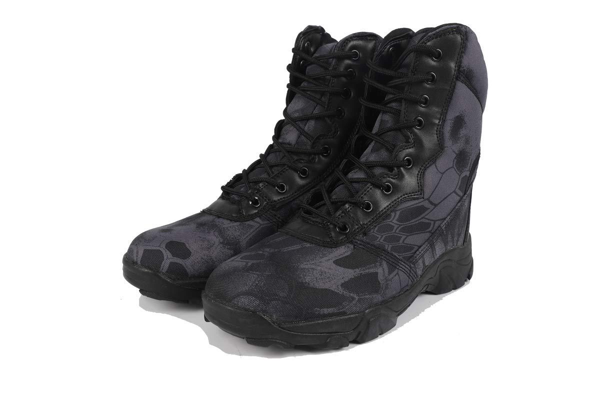 Adong Mens Bergsteigen Stiefel wasserdicht Hochschungel Trekking Schuhe Lace-up Non Slip Attroß-Outdoor-Schuhe,B,42EU