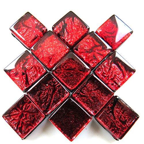 Craft Carreaux de mosaï que –  10 mm –  50 g Foil –  Rose HIM