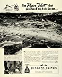 1944 Ad Jenkins Bros. NY Scale Model Invasion Scene Amphibious Ship Carrier WWII - Original Print Ad