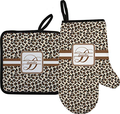 RNK Shops Leopard Print Oven Mitt & Pot Holder (Personalized)