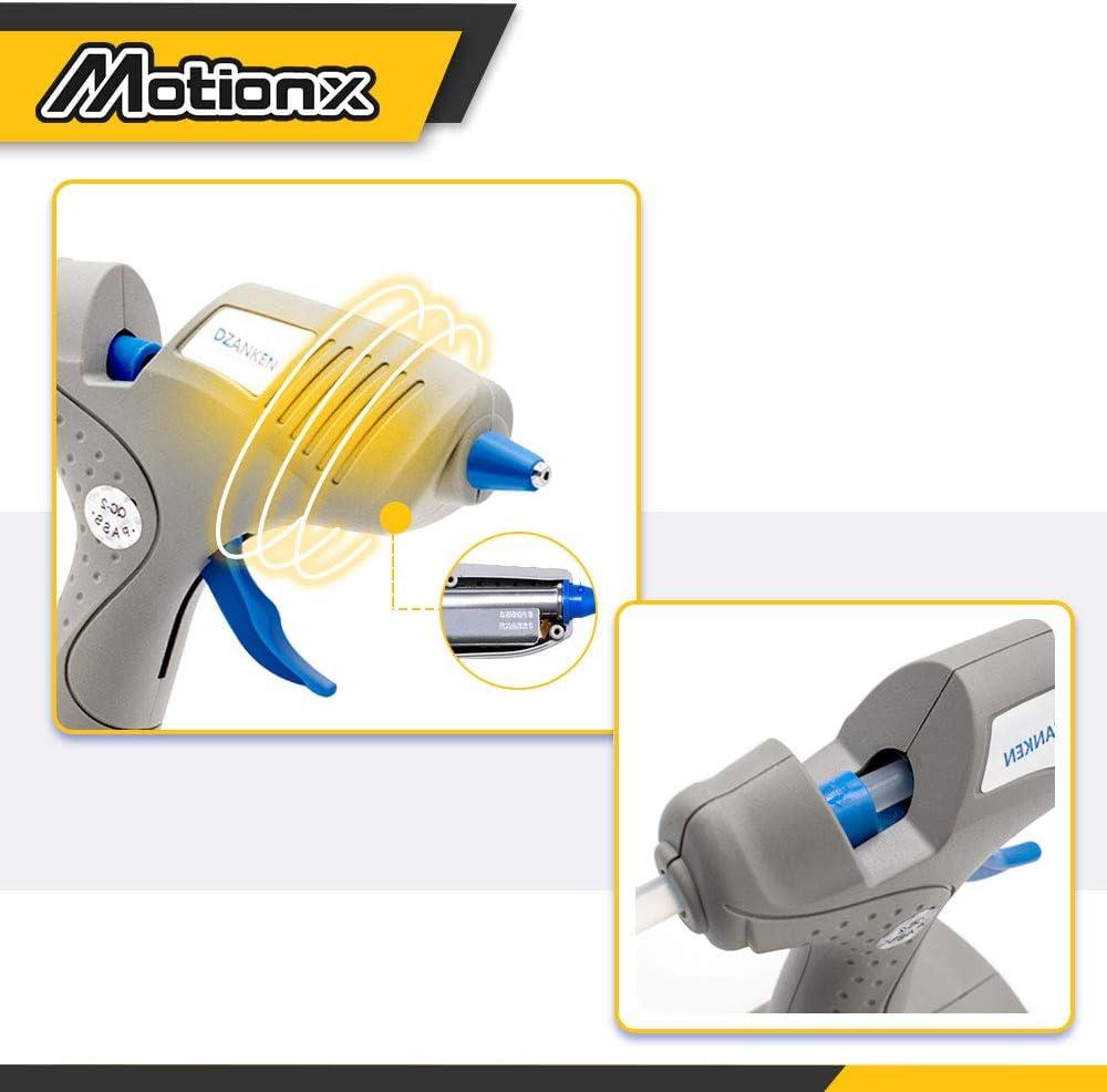 Pistolet /à colle chaude Batterie et charge, batterie non incluse Fonctionnent avec pistolet /à colle double temp/érature avec 3 b/âtons de colle pour d/écoration//cadeaux de bricolage