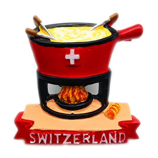 Hqiyaols Souvenir Fondue de Queso Suiza Refrigerador 3D Imán de ...
