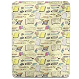 School Supplies Fitted Sheet: Queen Luxury Microfiber, Soft, Breathable