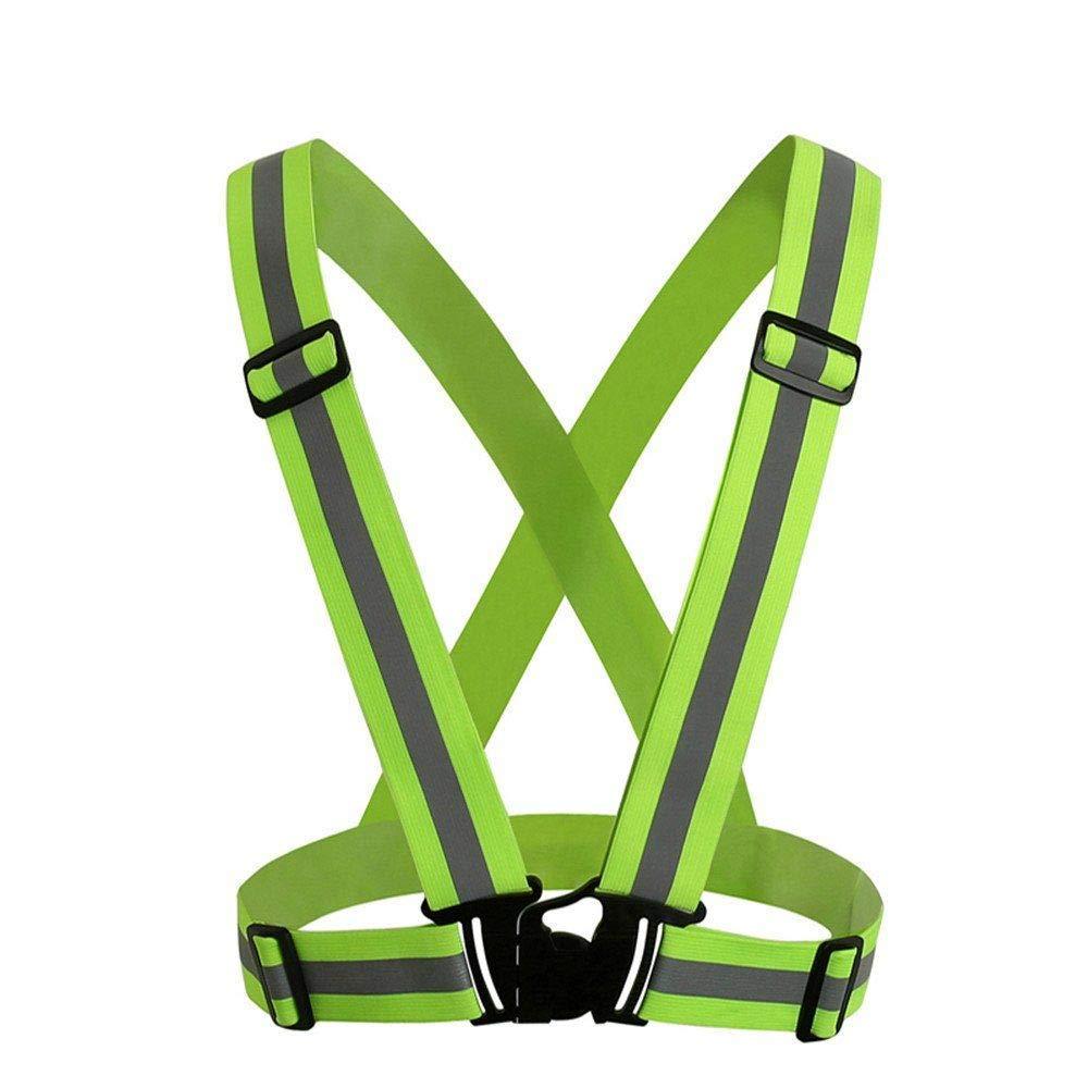 NEWSIHUI Verstellbare reflektierende Laufausrüstung Sicherheitsweste Taillengürtel Streifen Jacke Hohe Sichtbarkeit für Outdoor Joggen, Radfahren, Walking, Motorrad Reiten und Laufen