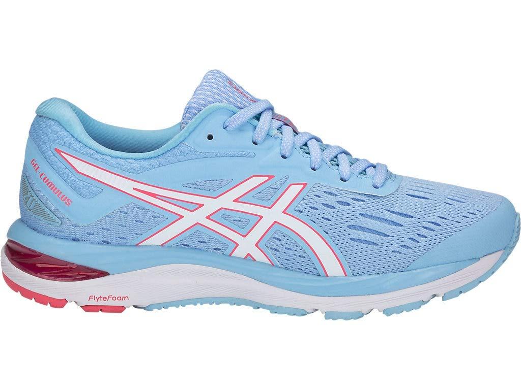 ASICS Women's Gel-Cumulus 20 Running Shoes, 5M, Skylight/White