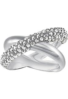 03ee9054d Swarovski Women's Ring Crystaldust Metal with Swarovski Crystals (Silver)