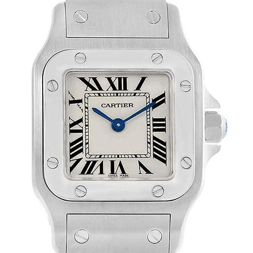 f6d91d1716dda Cartier Santos Galbee W20056D6 - Reloj de Cuarzo para Mujer (Certificado de  Propiedad previa)