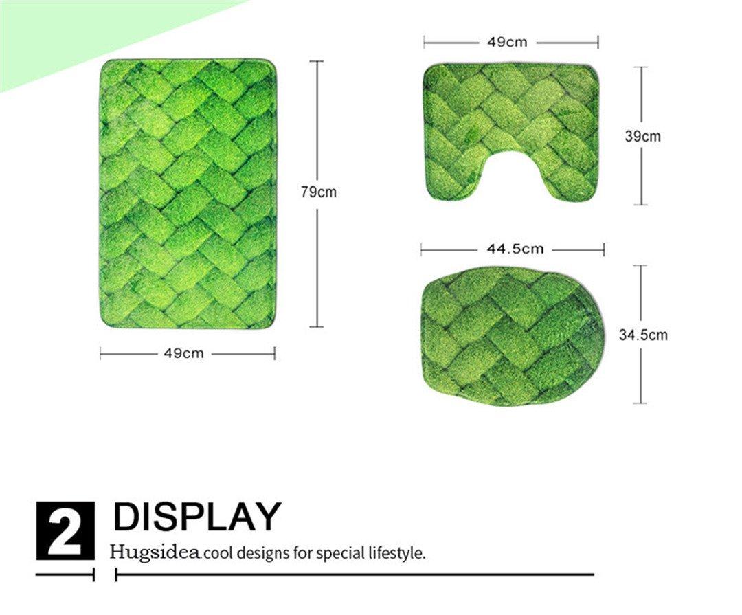 3 3 3 pcs suit Badezimmer Anti-rutsch Teppich 3D-Cool Animal Dolphin dekorativen Teppich B07CQDPPQN Duschmatten caed35