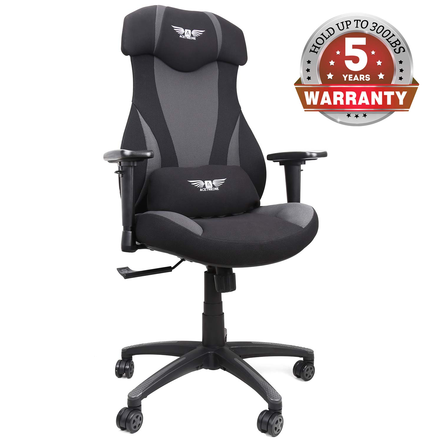 Mesh Gaming Chairs, Racing Style Office Chair, Ergonomic Computer Desk Chairs with Lift Headrest and Armrests, Flexible Adjustable Height and Reclining Device