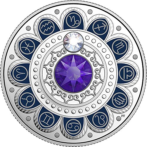 2017 CA Canada Zodiac PowerCoin CAPRICORN Zodiac Swarovski Crystal Silver Coin 3$ Canada 2017 Proof by Power Coin