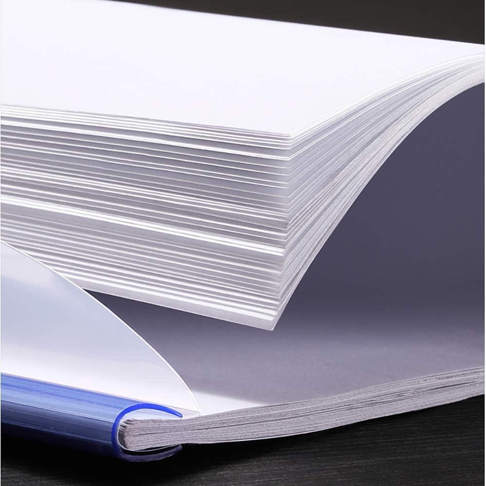 materiale scolastico per ufficio trasparente Riprese di presentazione Cartelle di file Raccoglitore organizer per carta formato A4 10 pezzi trasparenti copertine di rapporto con barra scorrevole tipo U 5 colori capacit/à di 40 fogli