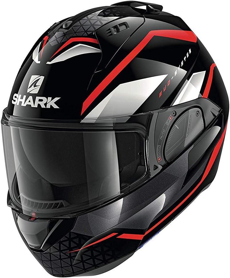 M Negro//Blanco//Rojo Casco de moto Shark EVO ES YARI KRW