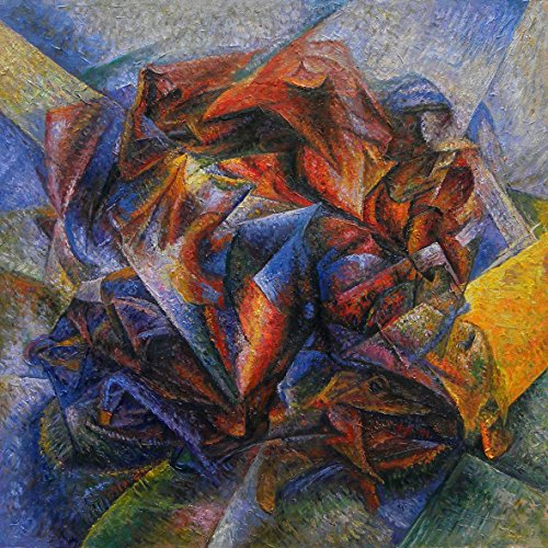 Dynamism of a Soccer Player - Umberto Boccioni High Quality Hand-painted Oil Painting Reproduction (40 X 40 In.) by Various Artists