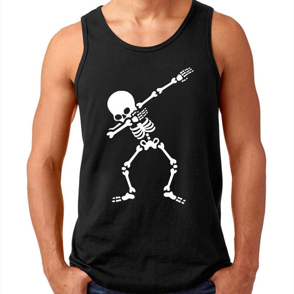 Wingzoo Workout Tank Top For S Funny Graphic Ness Gym Skeleton Pop Culture Racerback Sleev