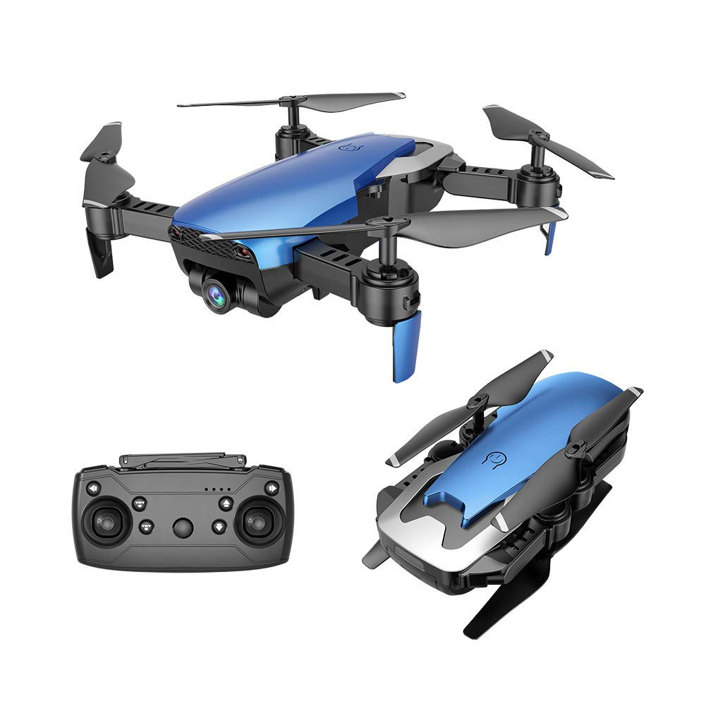 Hisoul X12S RC Quadcopter 2.4Ghz 4CH Wide-angle720P HD Camera WiFi FPV Transmission Optical Flow Positioning RC Quadcopter - WiFi Connect, APP Control,3D Rollover Stunt, Headless Mode (Blue)