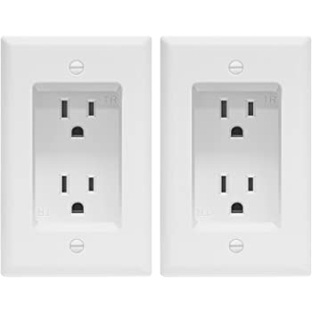 Leviton 690 W 15 Amp 2 Gang Recessed Device With Duplex Receptacle