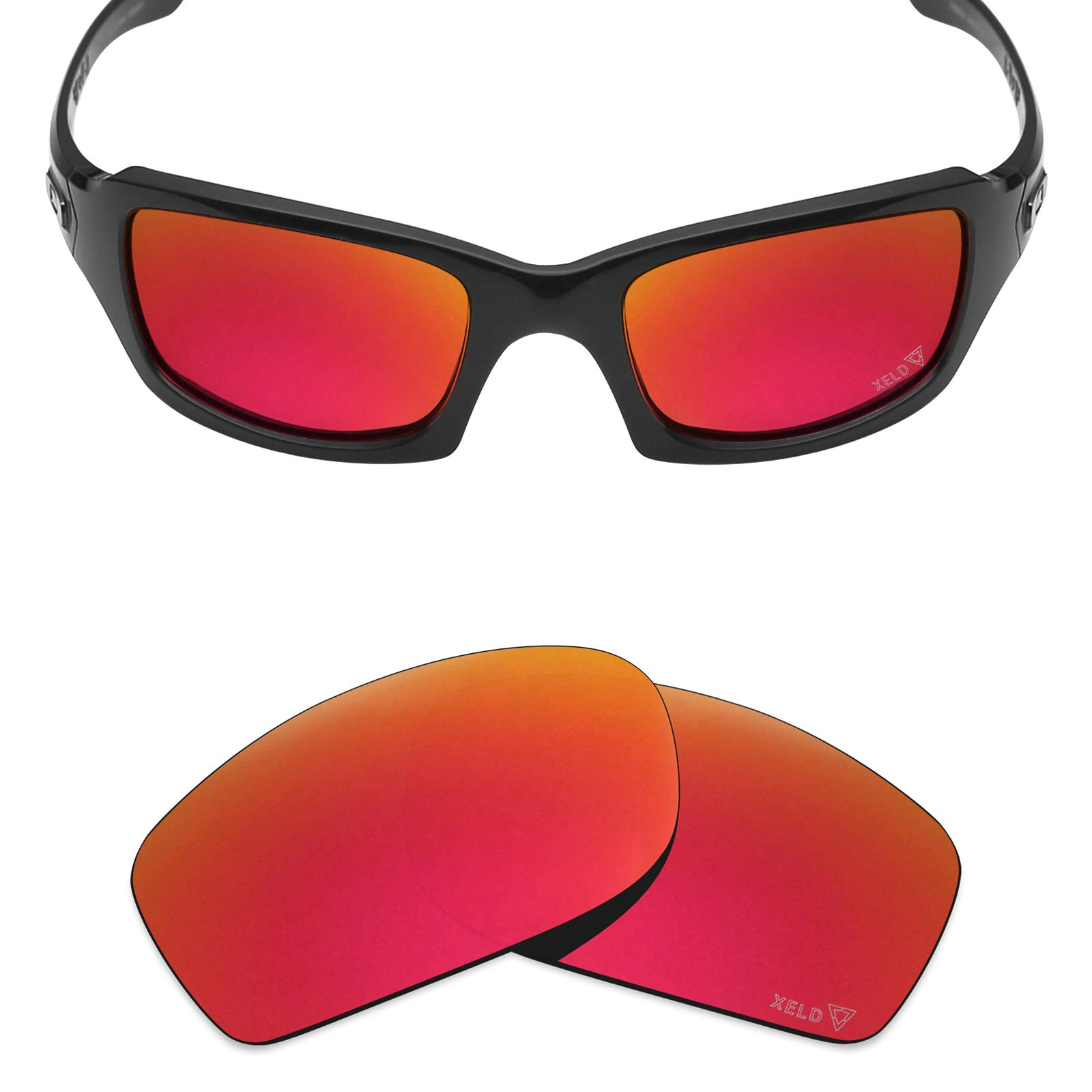 f87acd0573cd0 Galleon - Mryok XELD Replacement Lenses For Oakley Fives Squared - Johnny  Red