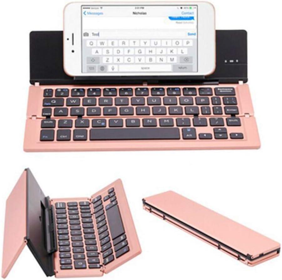 Portable Mini Wireless Bluetooth Folding Keyboard Aluminum Alloy Foldable Keypad
