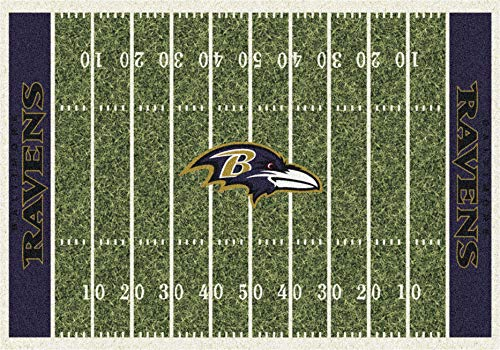 Imperial Officially Licensed Home Furnishings: NFL Team Home Field Area Rug, Baltimore Ravens, 3'10