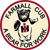 "IH Farmall Cub A Bear For Work 4"" Classic Decal Sticker International Harvester"