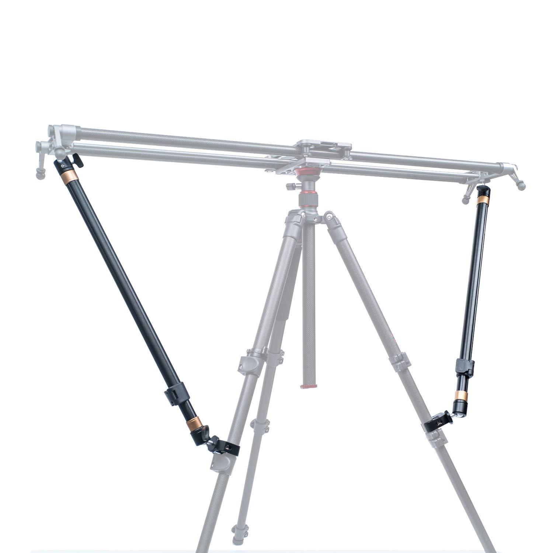 -YC Onion Tr/épied Bras de stabilit/é pour cam/éra coulissante Rail de rail de chariot de transport Stabilit/é croissante L/éger Longueur ajustable 2 bras