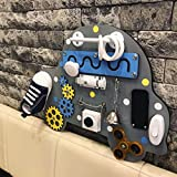 Car Handmade Wooden Busy board, Clever Puzzles, Locks and Latches Activity Board