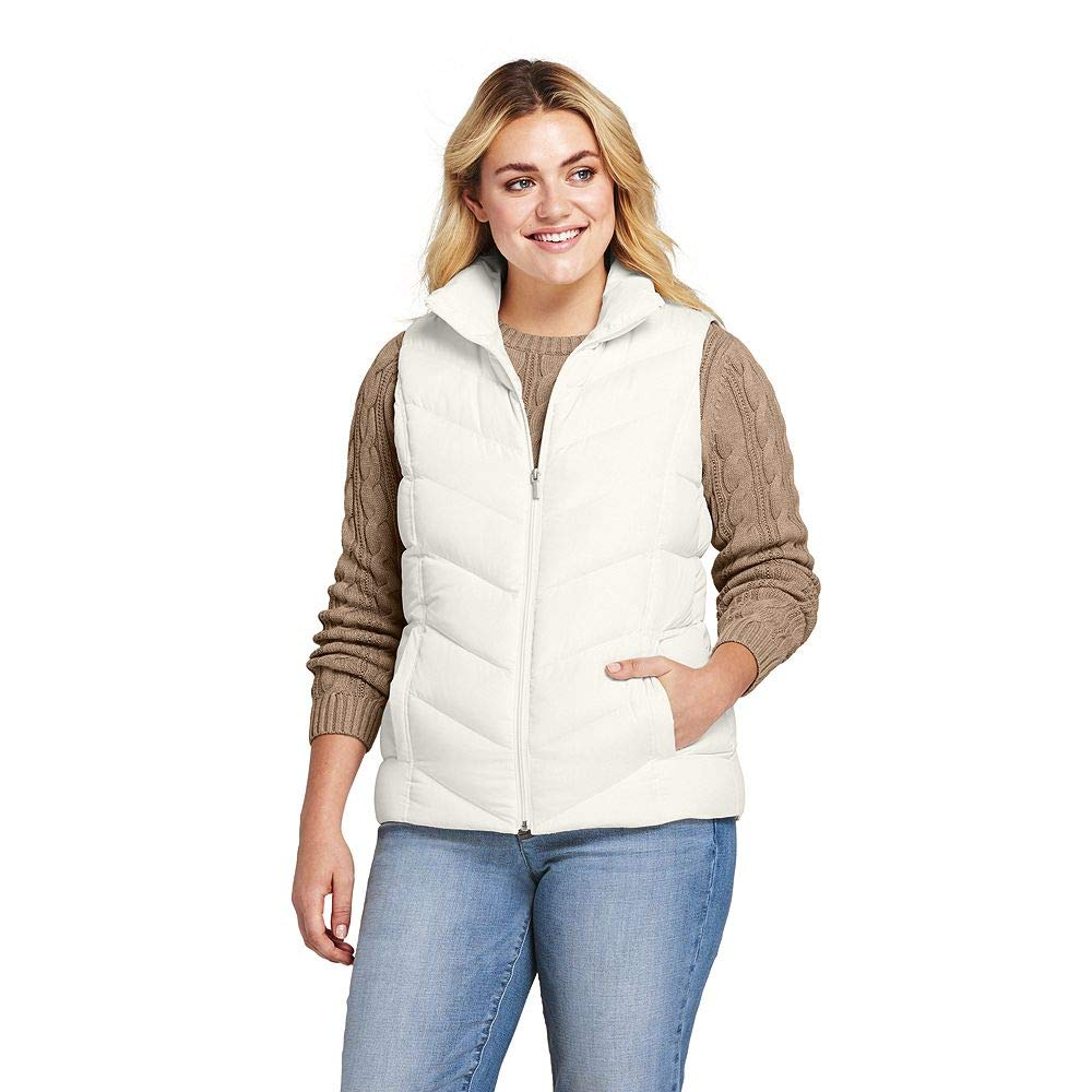 Lands' End Women's Plus Size Down Vest classic