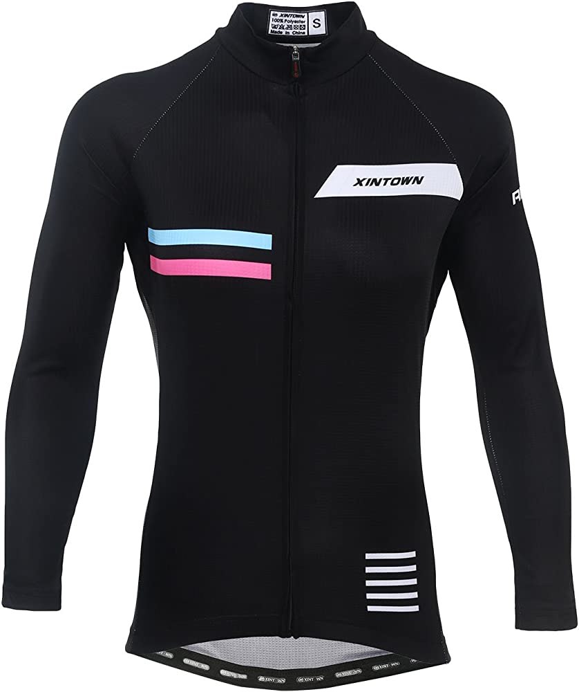 Womens Cycling Jersey Long Sleeve Warm Fleece Thermal Set Riding Outfits Bicycle Clothes
