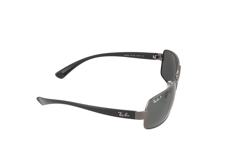 be04883ecc Amazon.com  Ray-Ban Men s 0rb3379-01004 58 64rb3379 Polarized Rectangular  Sunglasses