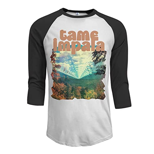 765278b53dc0 MarshallD Men's Tame Impala Innerspeaker 3/4 Sleeve Raglan Baseball T Shirts  Black | Amazon.com